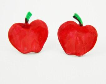 Statement Apple Earrings