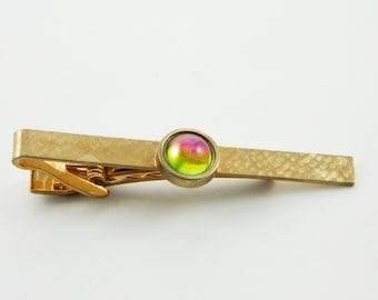 Rainbow Prism Crystal Tie Clip