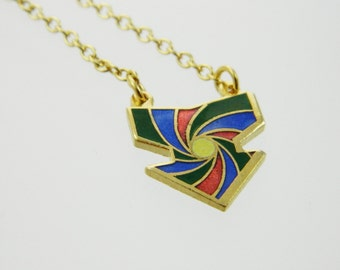 Vintage 70s Arrow Necklace - Green