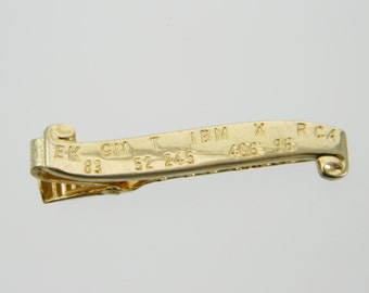 Stock Ticker Tie Clip in Gold
