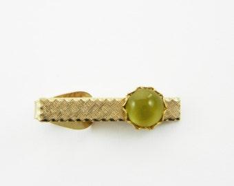 Olive Moonstone Tie Clip