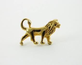 Gold Lion Pin