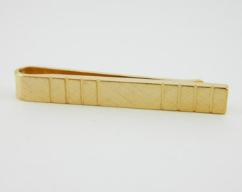 Gold Striped Tie Bar