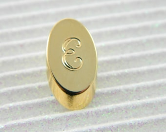 "Gold Monogram ""E"" Lapel Pin - Personalized Initial ""E"" Tie Tack"