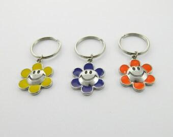 Daisy Emoticon Keychain