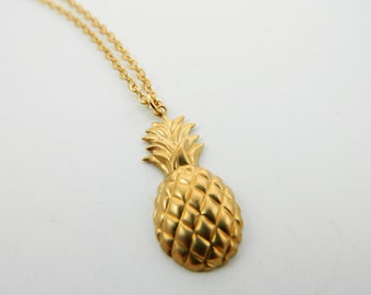 Gold Pineapple Necklace - NC0015