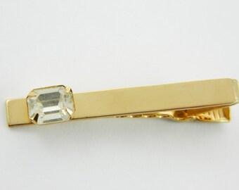 Vintage Crystal Tie Clip