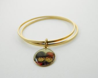 Fran Mar Moppets Bangle Set - Boy with Girl