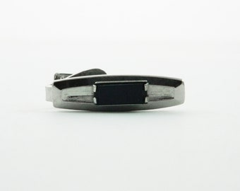 Onyx Etched Tie Clip