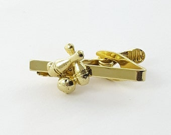Bowling Tie Clip in Gold