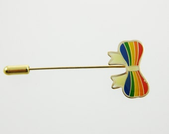 Rainbow Bow Stick Pin