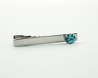 Blue Topaz Tie Clip