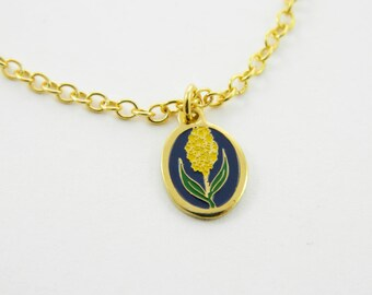 Delphinium Charm Necklace