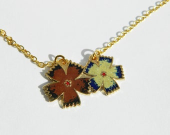 Flower Enamel Necklace