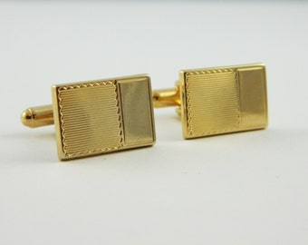 Gold Postcard Cuff Links
