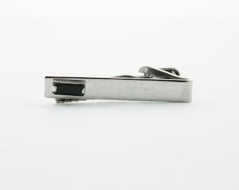 Onyx Baguette Tie Clip