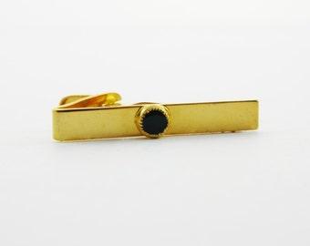 Tiny Onyx Tie Clip - TT173