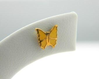 Tiny Yellow Butterfly Earrings