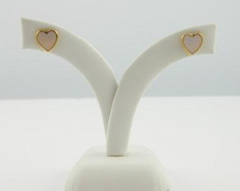 Lilac Enamel Heart Studs