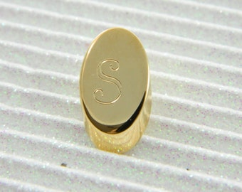 """Gold Monogram """"S"""" Lapel Pin - Personalized Initial """"S"""" Tie Tack"""