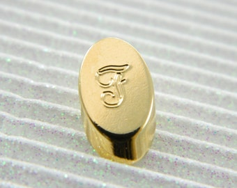 """Gold Monogram """"F"""" Lapel Pin - Personalized Initial """"F"""" Tie Tack"""