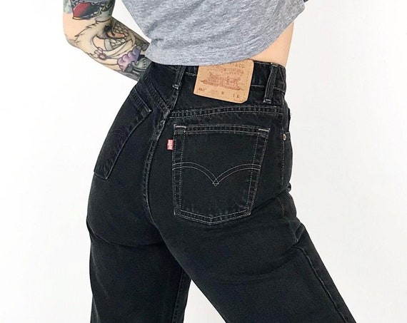 Levi's 512 Faded Black Jeans / Size 25