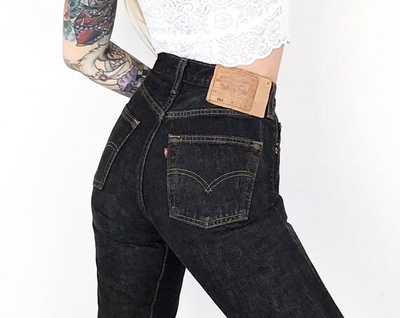 Levi's 501 Washed Black Jeans / Size 25