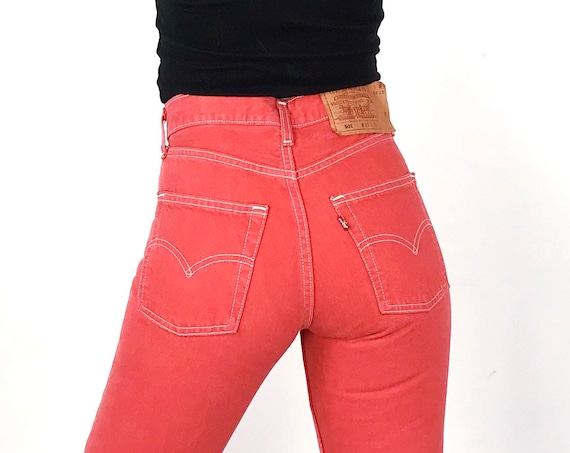 Levi's 501 Faded Red Jeans / Size 25