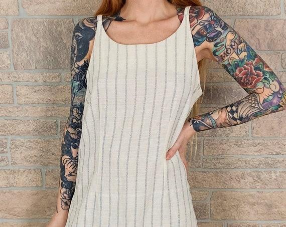 Minimalist Striped Sleeveless Dress