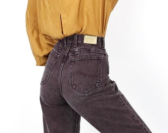 0b7be224 90's Lee High Waisted Brown Denim Vintage Mom Jeans // Women's size 26 2  Small S