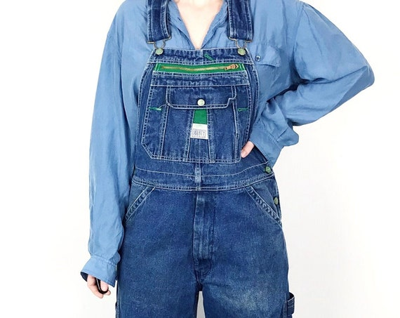 Liberty Faded Denim Dungarees Overalls