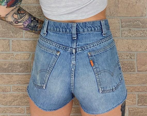 70's Levi's Orange Tab Shorts / Size 27 28
