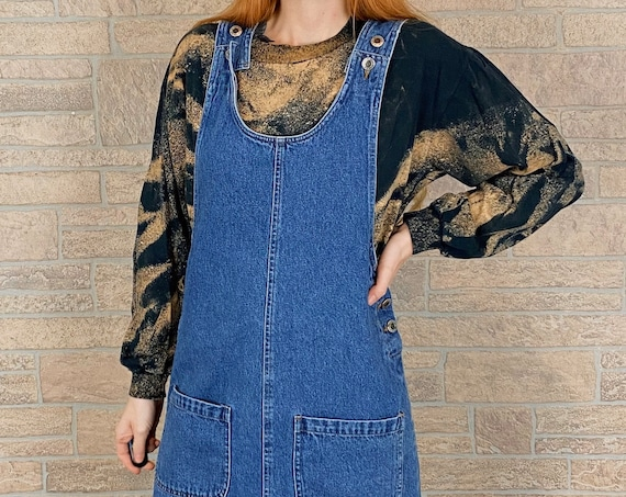 Vintage 90's Denim Jumper Dress
