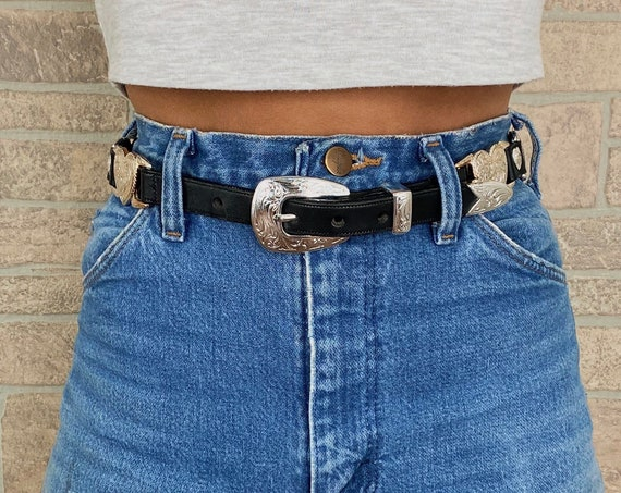 Western Hearts and Black Leather Belt