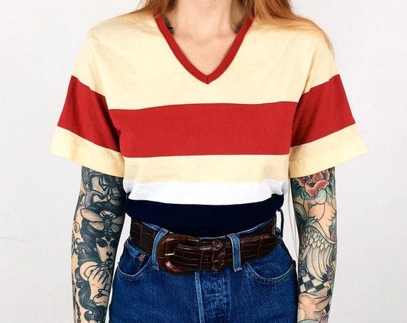 90's Striped Soft Cotton Tee T-Shirt