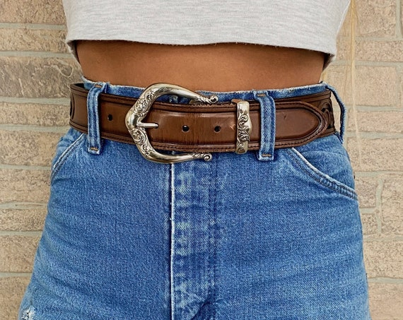 Brighton Tooled Cut Out Leather Belt