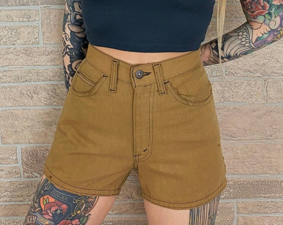 60's Levi's Big E Brown Shorts / Size 26 27