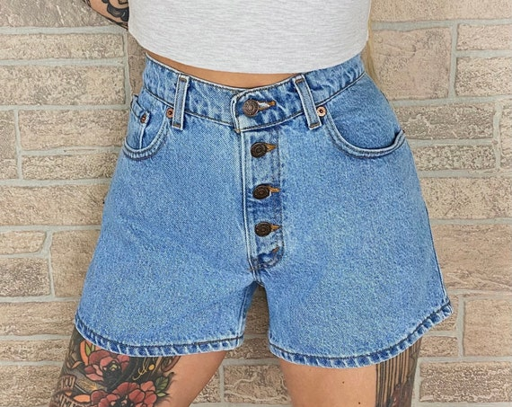 Vintage Levi's Button Fly Shorts / Size 27