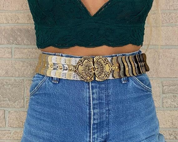 80's Gold and Silver High Waist Belt