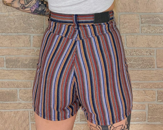 Lee Riveted Striped Shorts / Size 30