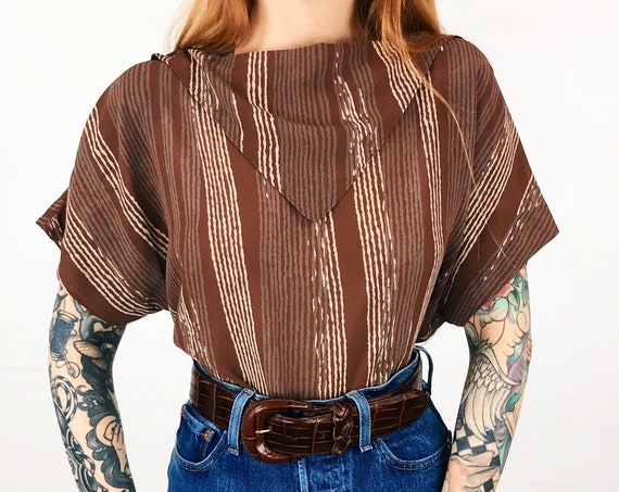 70's Sheer Mod Chic Blouse