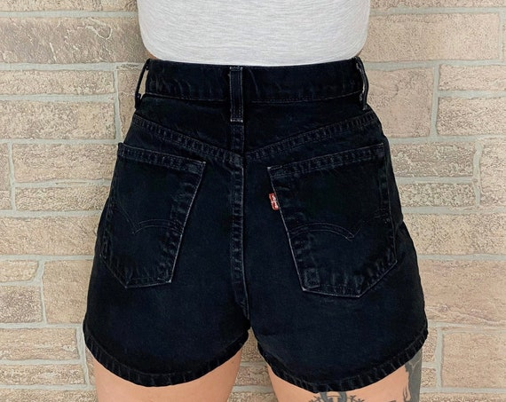 Levi's 512 Black Shorts / Size 25 26