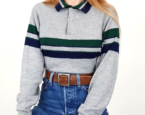 70's Soft Lightweight Collared Knit Top