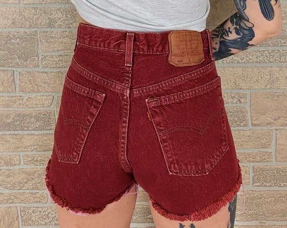 Levi's 501 Burgundy Cut Off Shorts / Size 29 30