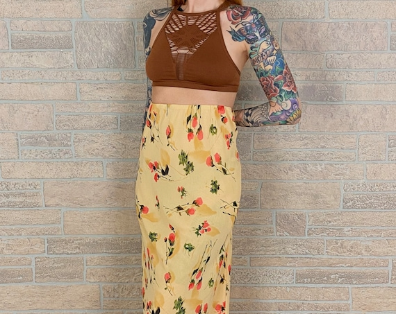 90's Chiffon High Rise Maxi Skirt / Dress
