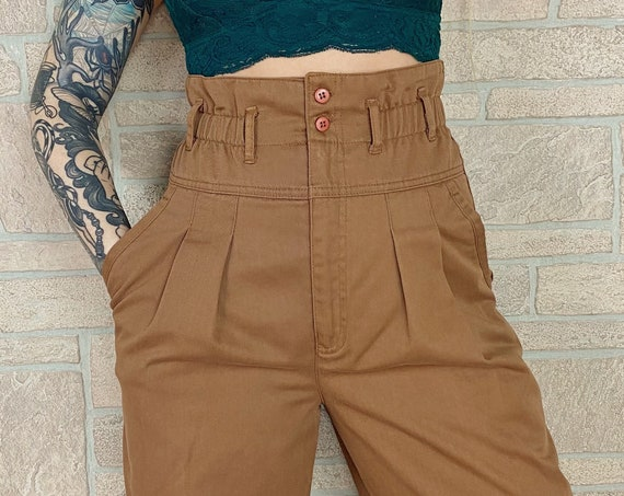 Ultra High Rise Brown Trouser Pants / Size 25 26