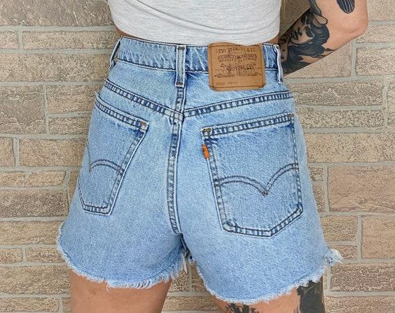 Levi's Orange Tab 910 Cut Off Shorts / Size 27