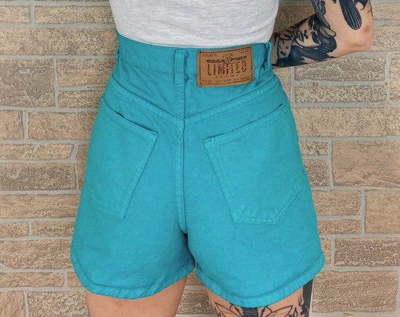 The Limited Vintage Teal Shorts / Size 25
