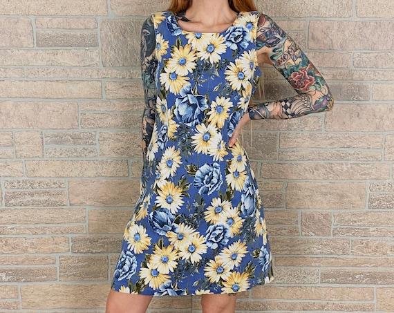 90's Daisy Stretch Denim Summer Dress