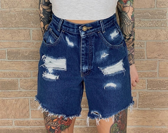 Calvin Klein High Rise Distressed Shorts / Size 24 25